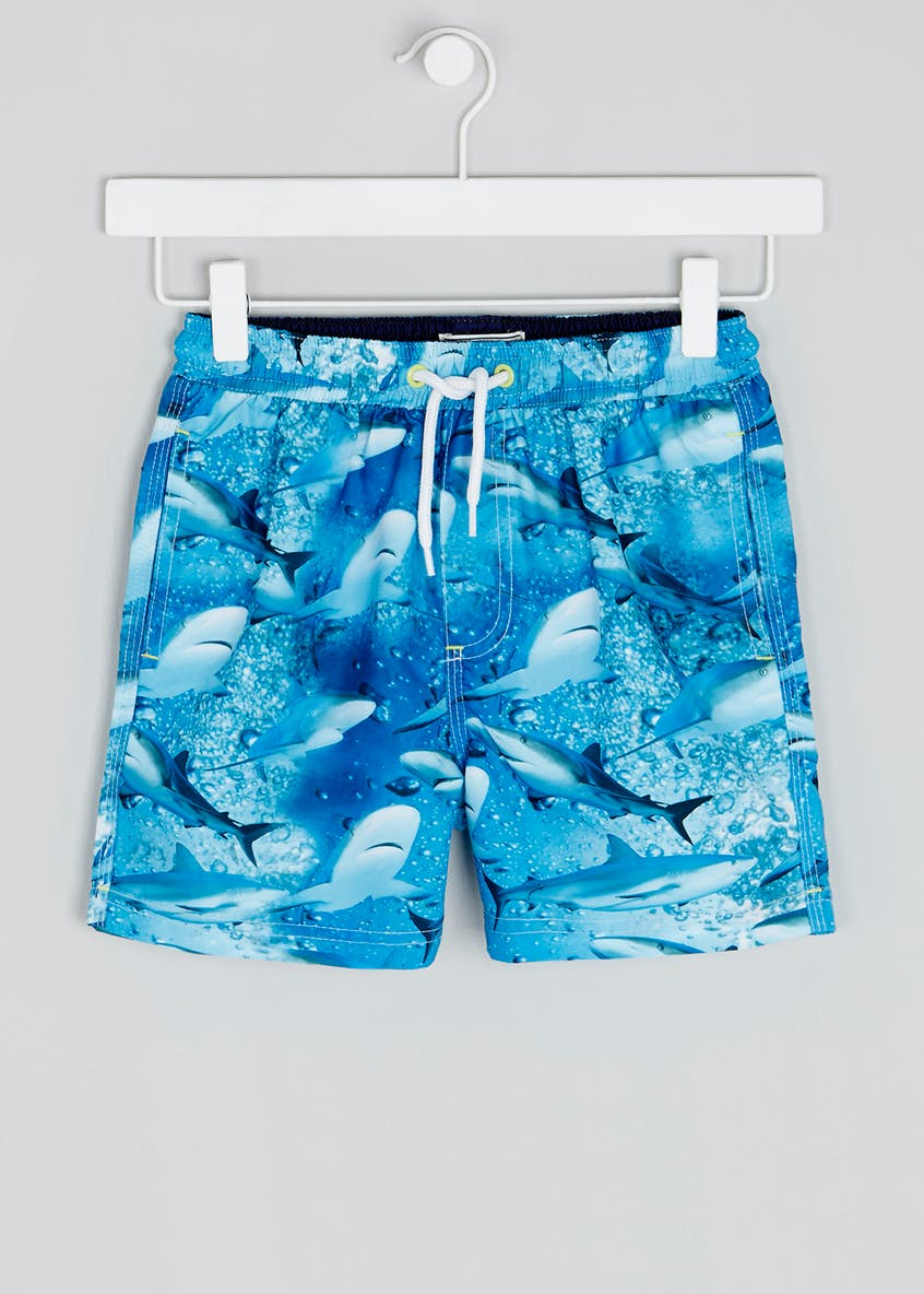 Boys Shark Swim Shorts (4-13yrs)