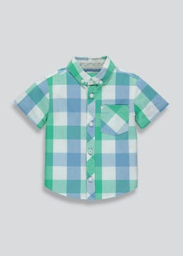 Boys Short Sleeve Check Shirt (6mths-6yrs)