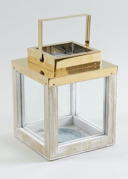 Copper Top Lantern (21cm x 16cm x 16cm)