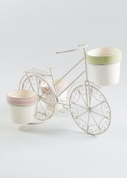 3 Pot Bike Planter (38cm x 15cm x 14cm)