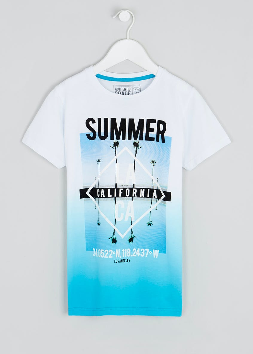 Boys Ombre California T-Shirt (9-16yrs)