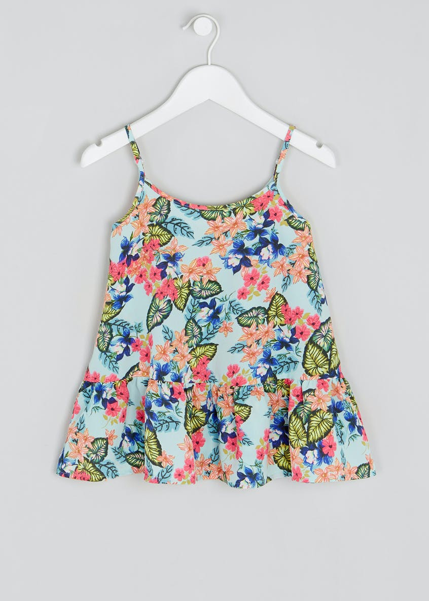 Girls Candy Couture Floral Frill Cami (9-16yrs)