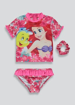 Kids Disney Little Mermaid 2 Piece Surf Suit (2-9yrs)