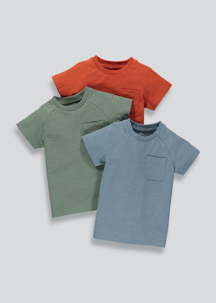 Boys 3 Pack Short Sleeve T-Shirts (3mths-6yrs)