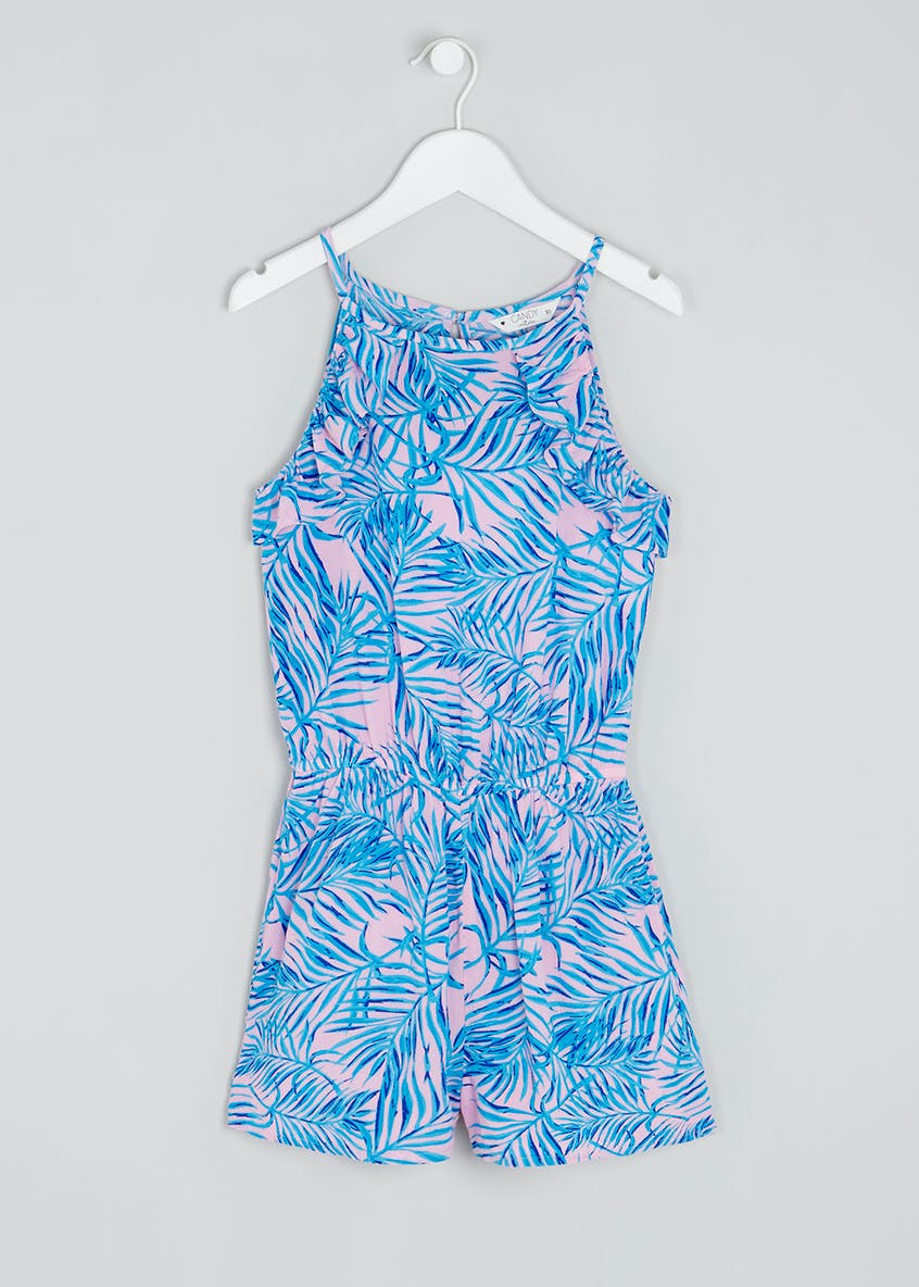 Girls Candy Couture Palm Playsuit (9-16yrs)