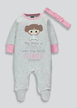 Girls Star Wars Sleepsuit (Newborn-12mths)