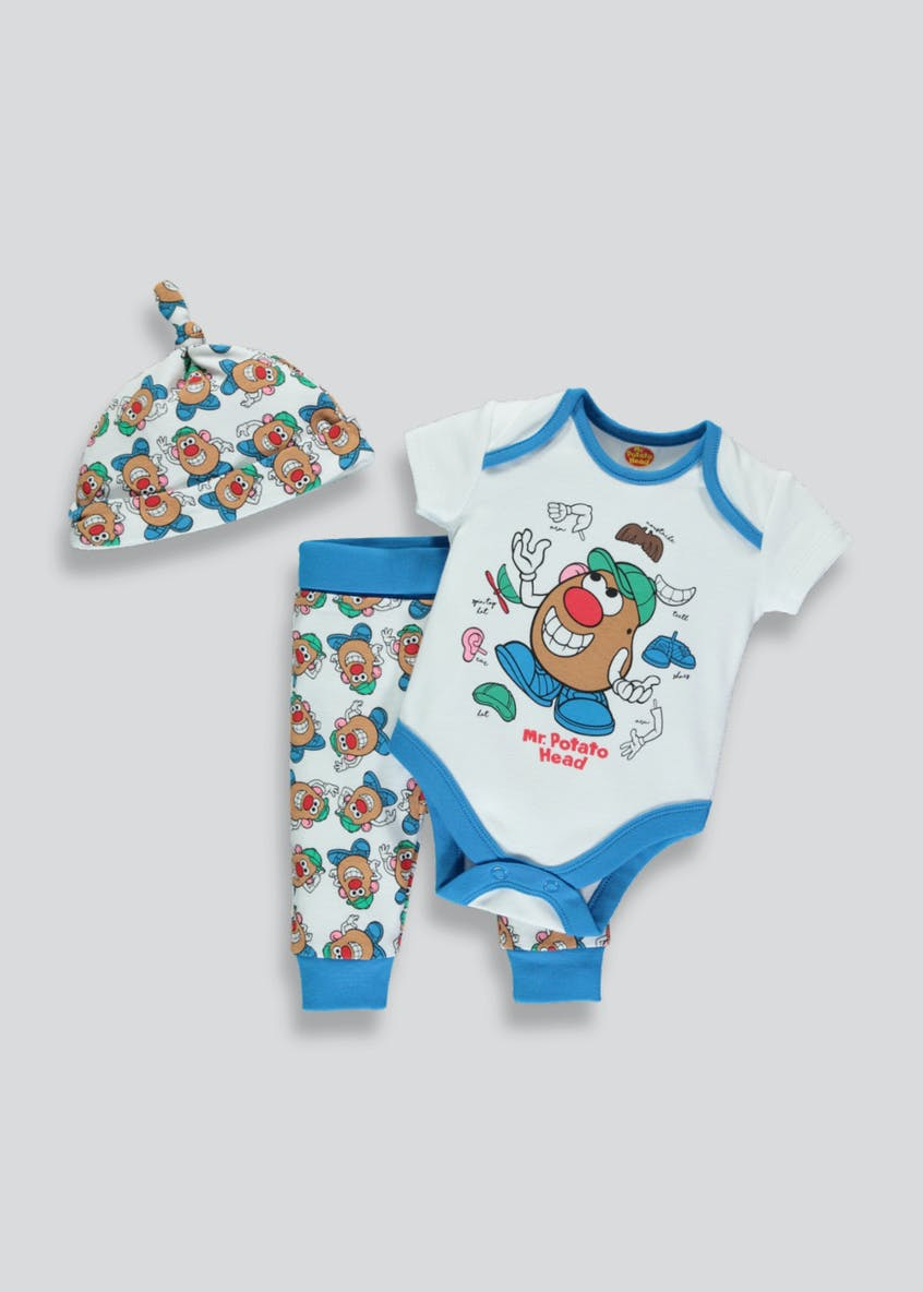 Unisex Mr. Potato Head 3 Piece Set (Newborn-9mths)