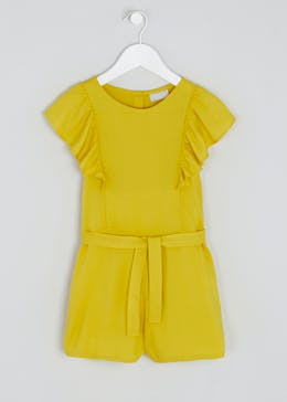 Girls Frill Textured Playsuit (4-13yrs)