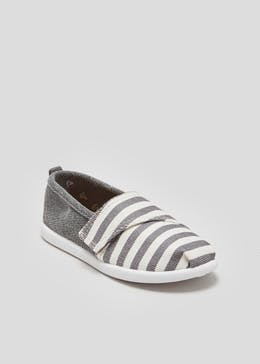 Boys Stripe Canvas Shoes (Younger 4-12)
