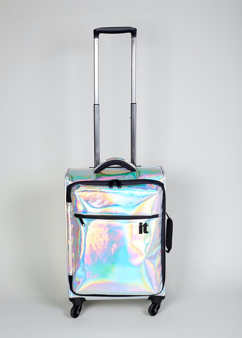 IT Luggage Holographic 4 Wheel Spinner Cabin Case