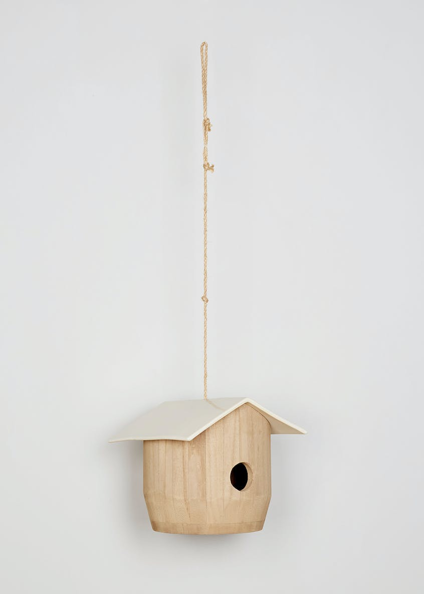 Bird Feeder with Ceramic Roof (23cm x 22cm x 20cm)