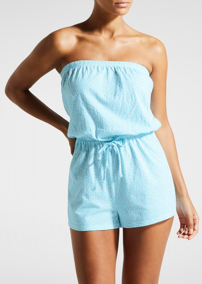 Tile Print Bandeau Playsuit