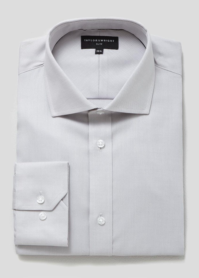 Easy to Iron Cotton Slim Fit Twill Shirt