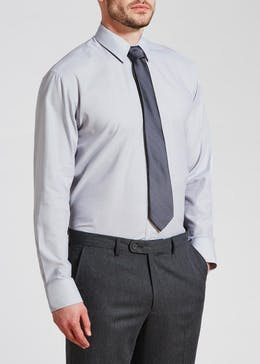 Regular Fit Textured Shirt & Tie Set