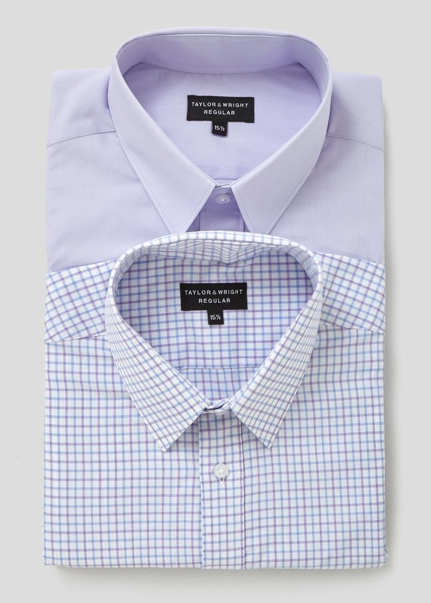 Twin Pack Short Sleeve Formal Shirts