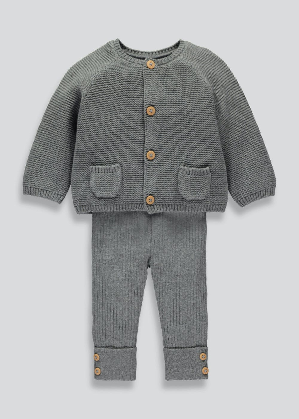 a5fd073d9 Unisex Knitted Cardigan   Leggings Set (Tiny Baby-18mths) – – Matalan