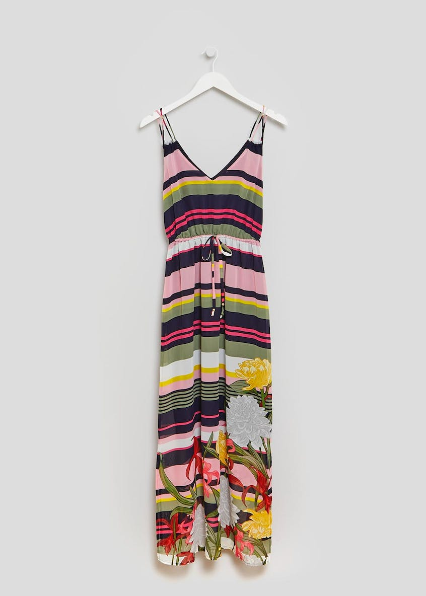 Soon Sorrento Floral Stripe Maxi Dress