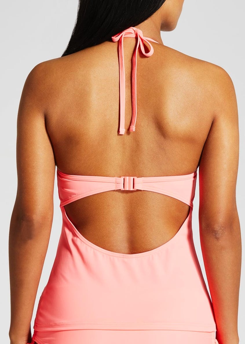 Gathered Moulded Cup Tankini Top