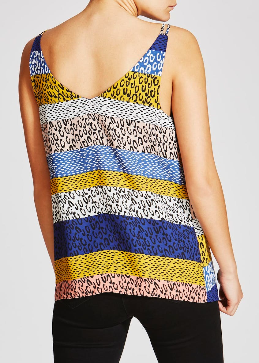 Animal Print Double Strap Cami
