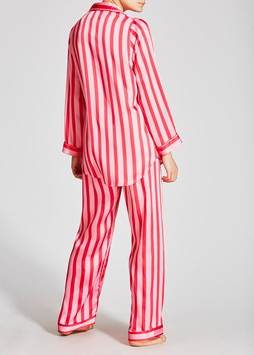 Stripe Satin Pyjama Set