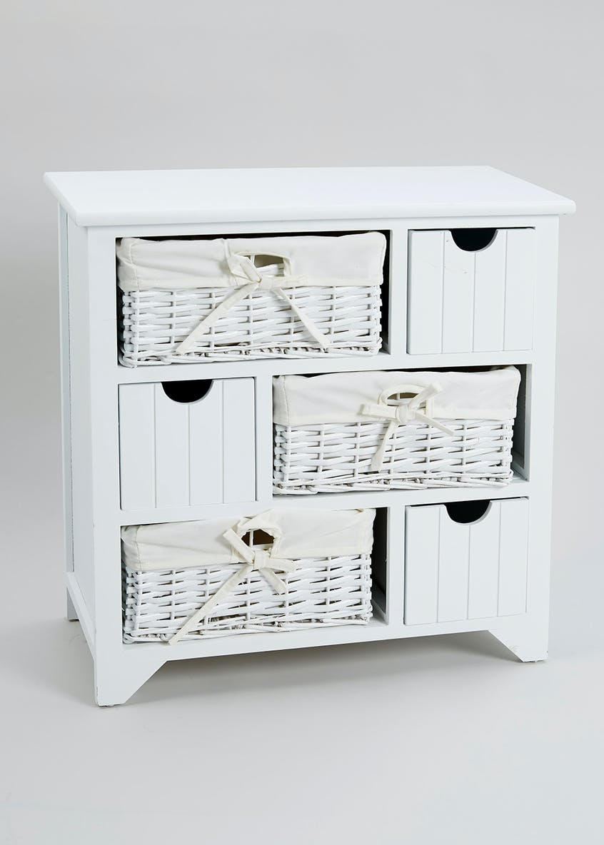 6 Drawer Storage Unit (58cm x 57cm x 27cm)