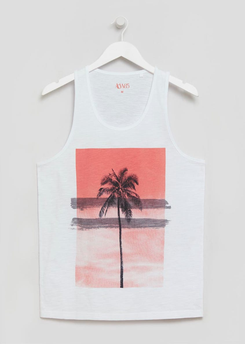 Palm Tree Graphic Vest