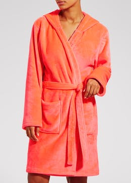 Neon Hooded Dressing Gown