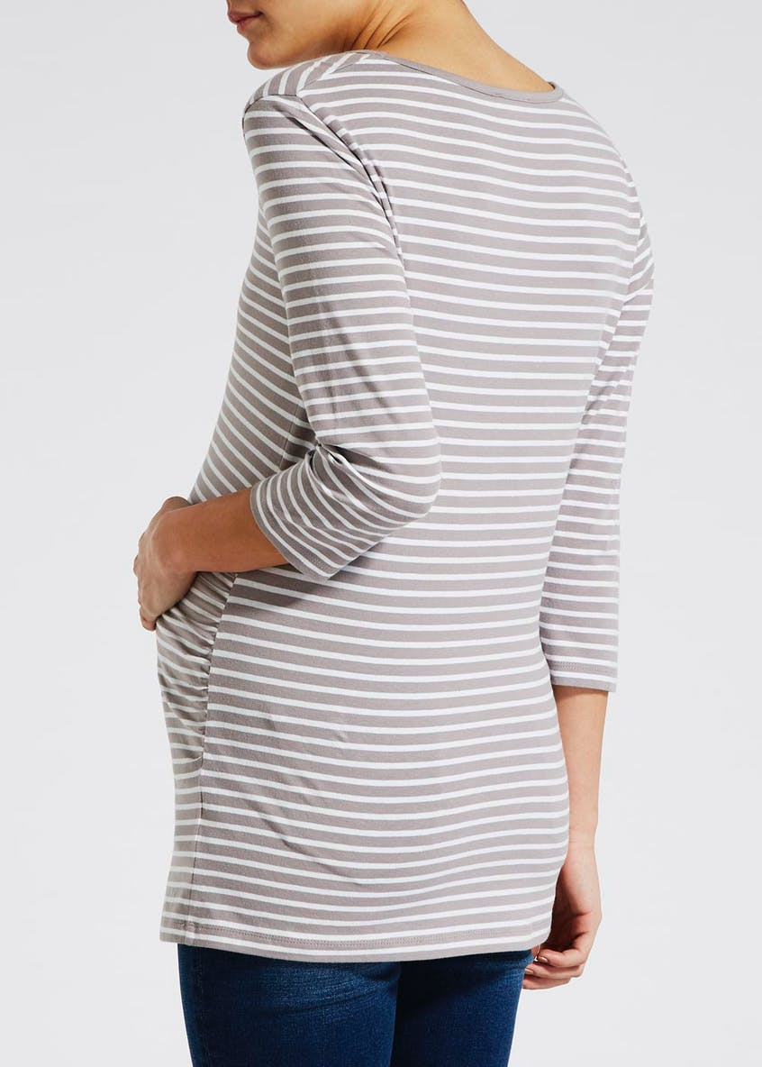 Maternity Stripe Longline Jersey Top
