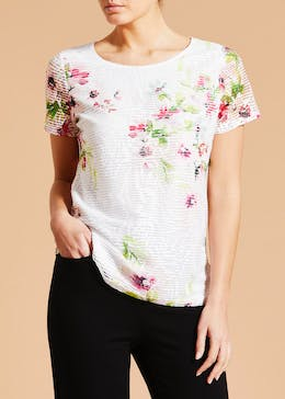 Textured Floral Top