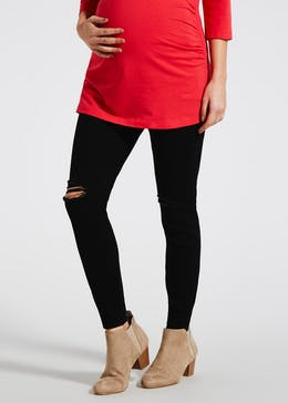 Maternity Over Bump Ripped Skinny Jeans