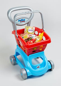 Kids Plastic Shopping Trolley (38cm x 25cm x 25cm)