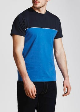 Colour Block Piped T-Shirt