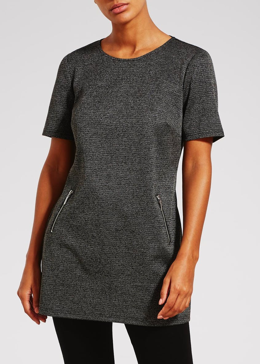 Zip Textured Tunic