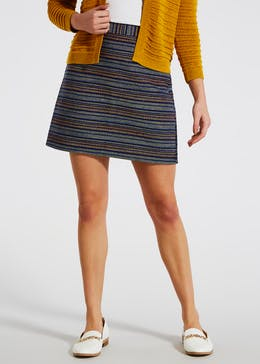 Textured Stripe A-Line Skirt