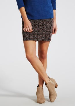 Aztec Pull On Mini Skirt