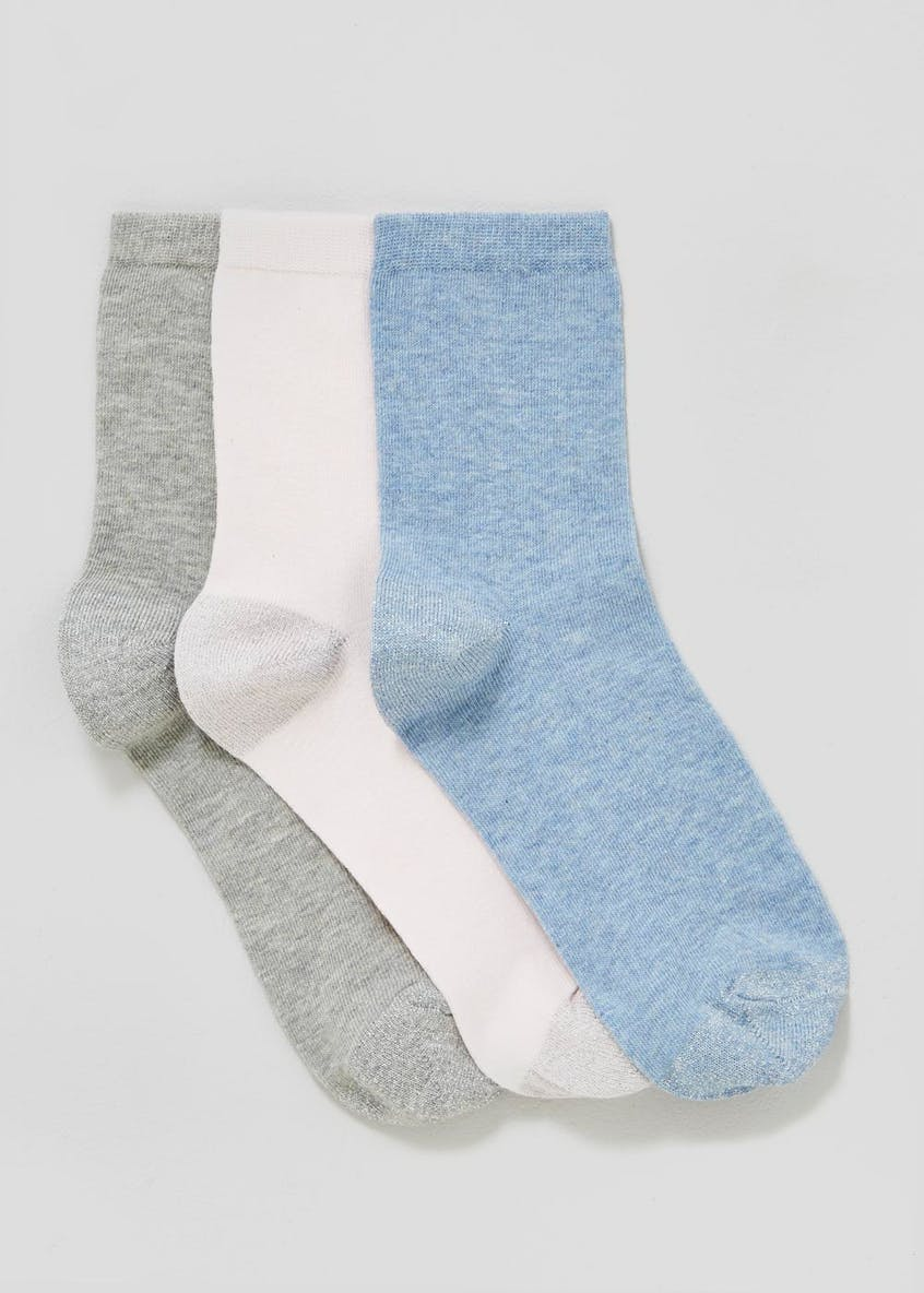 3 Pack Lurex Socks