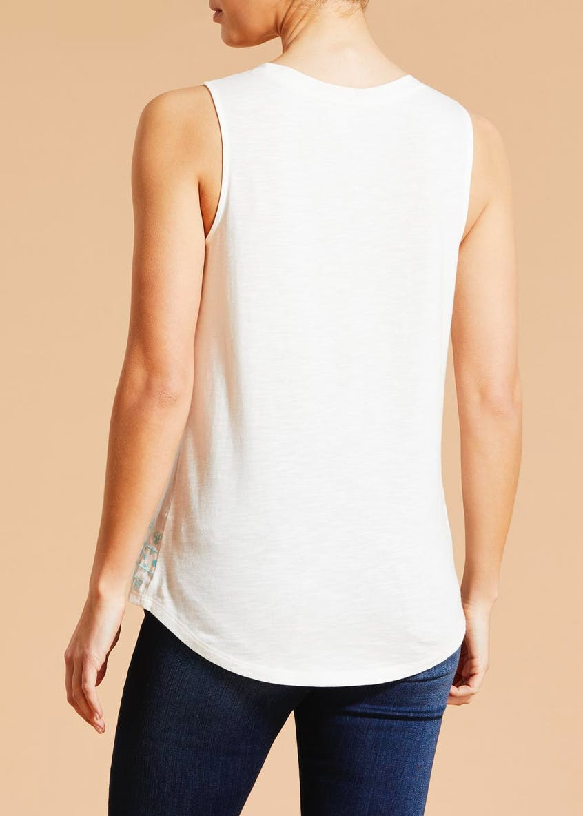 Falmer Embroidered Vest Top
