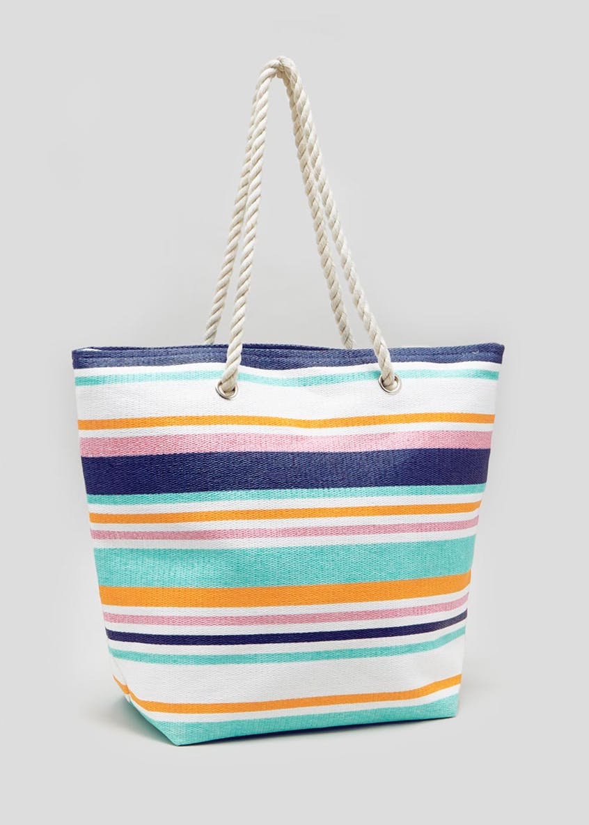 Stripe Rope Beach Bag