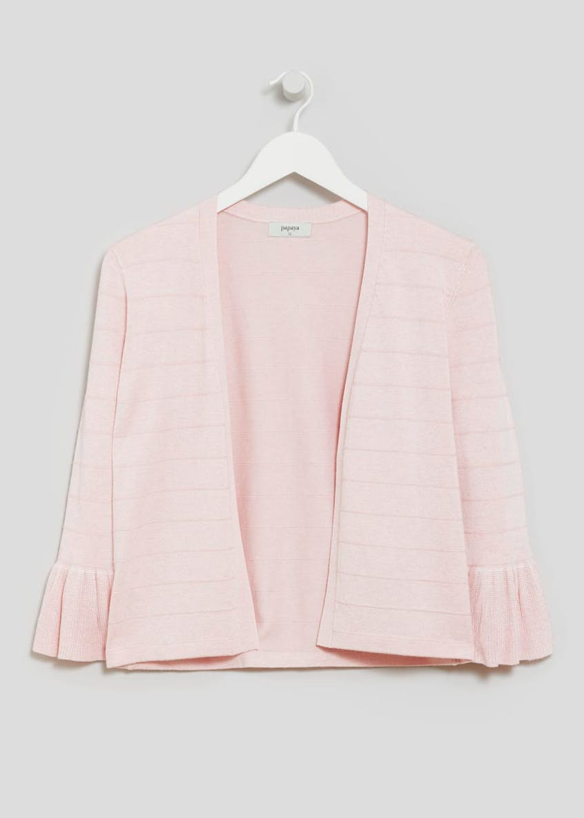 Frill Sleeve Edge to Edge Cardigan