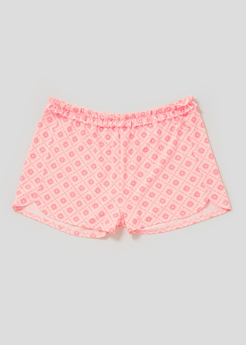Mix & Match Geo Ruffle Pyjama Shorts