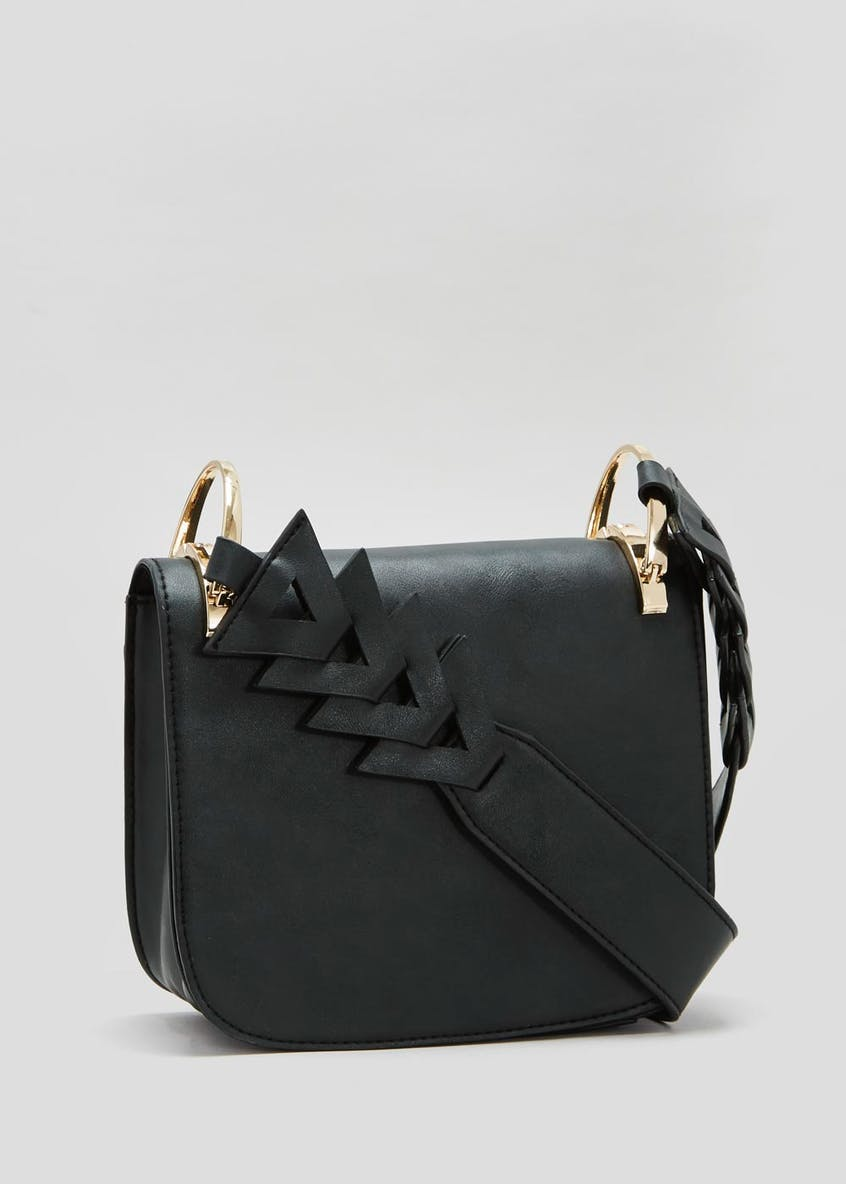 Chevron Handle Cross-Body Bag