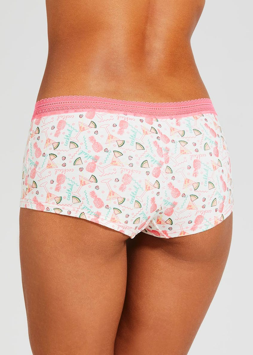Pineapple & Cocktail Boxer Knickers