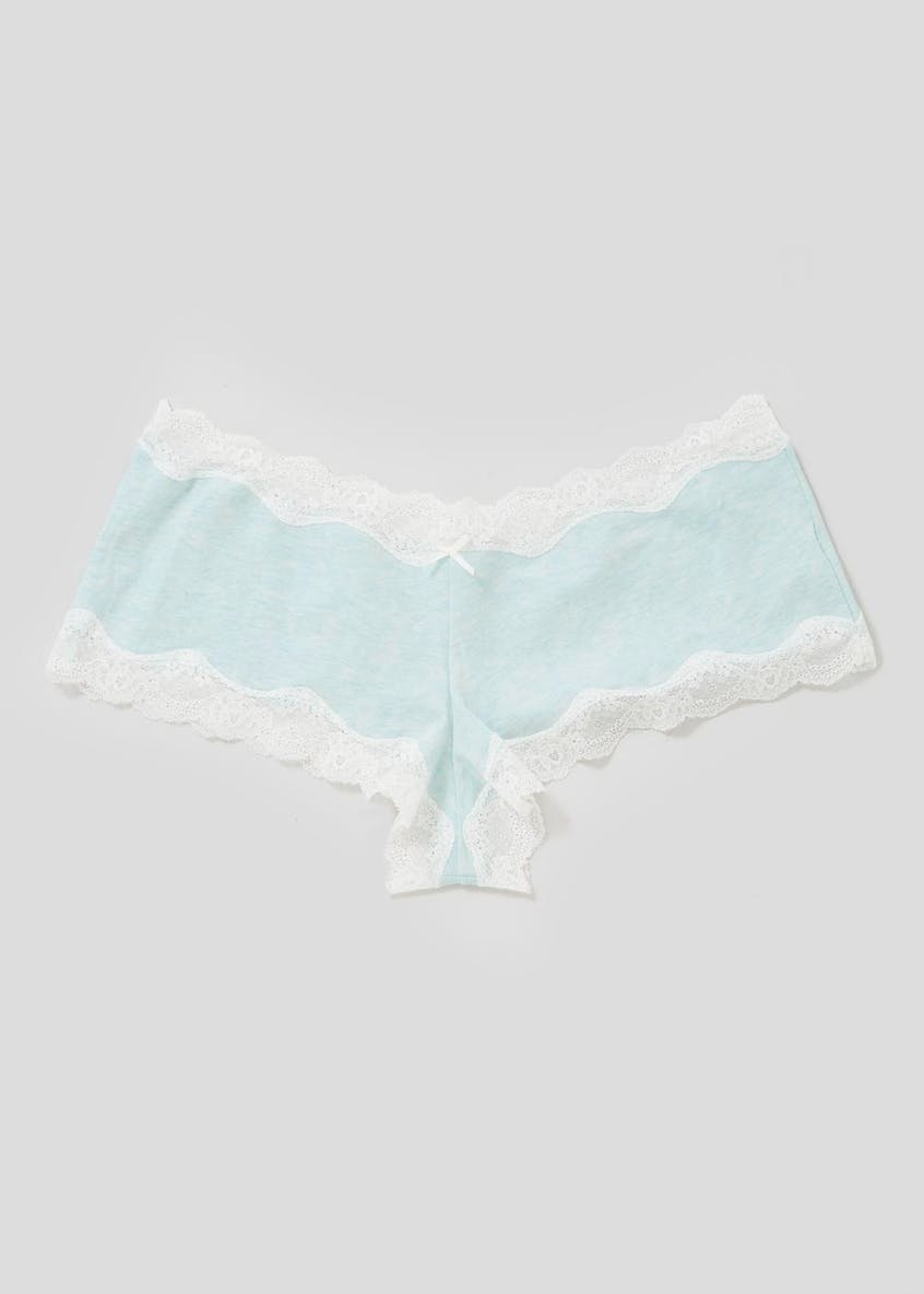 Lace Trim Jersey French Knickers
