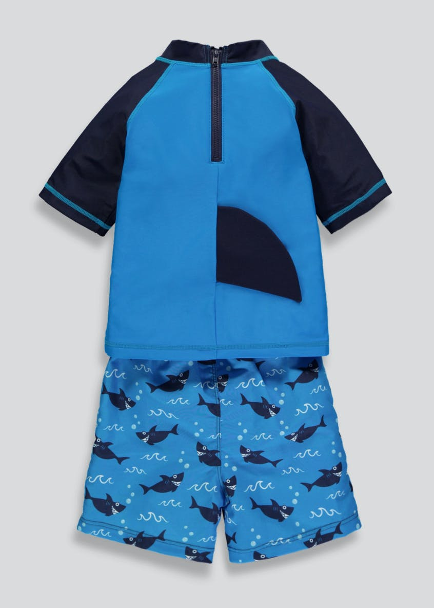 Boys Shark 2 Piece Surf Suit (3mths-5yrs)