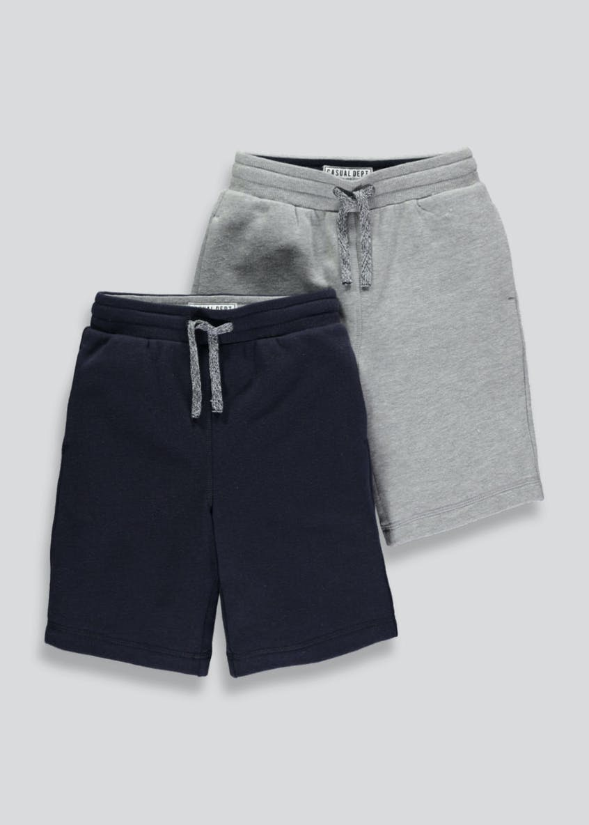 Boys 2 Pack Jogging Shorts (4-13yrs)