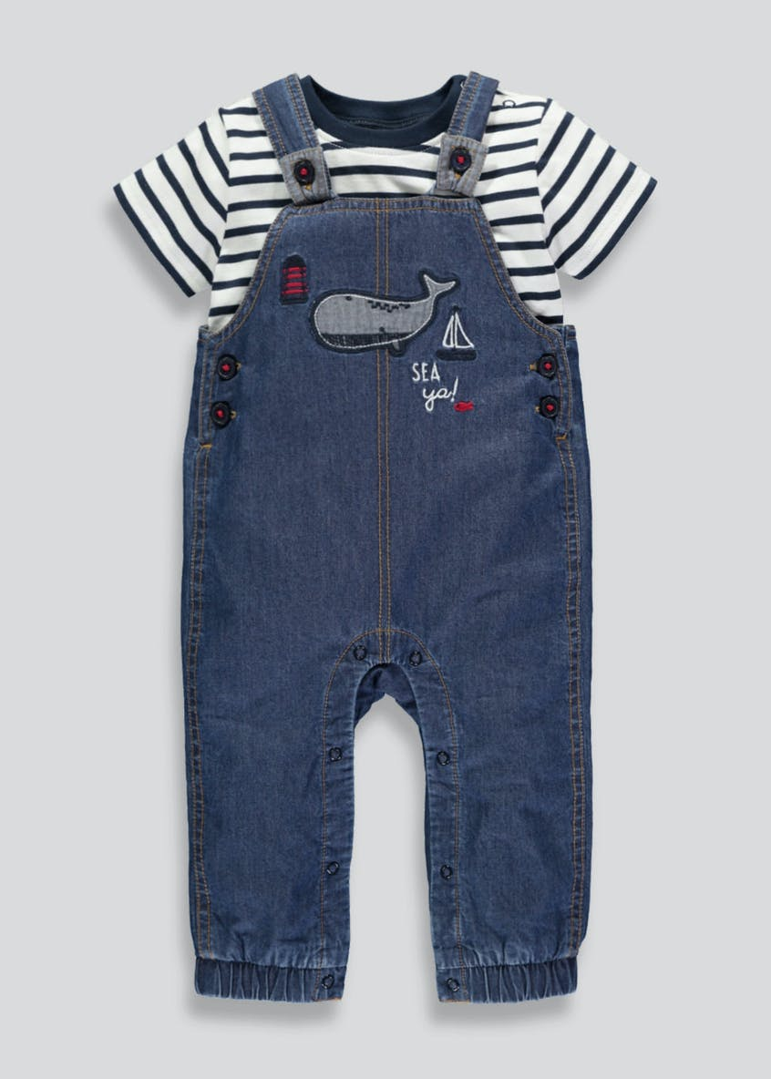 Boys Dungarees & T-Shirt Set (Newborn-18mths)