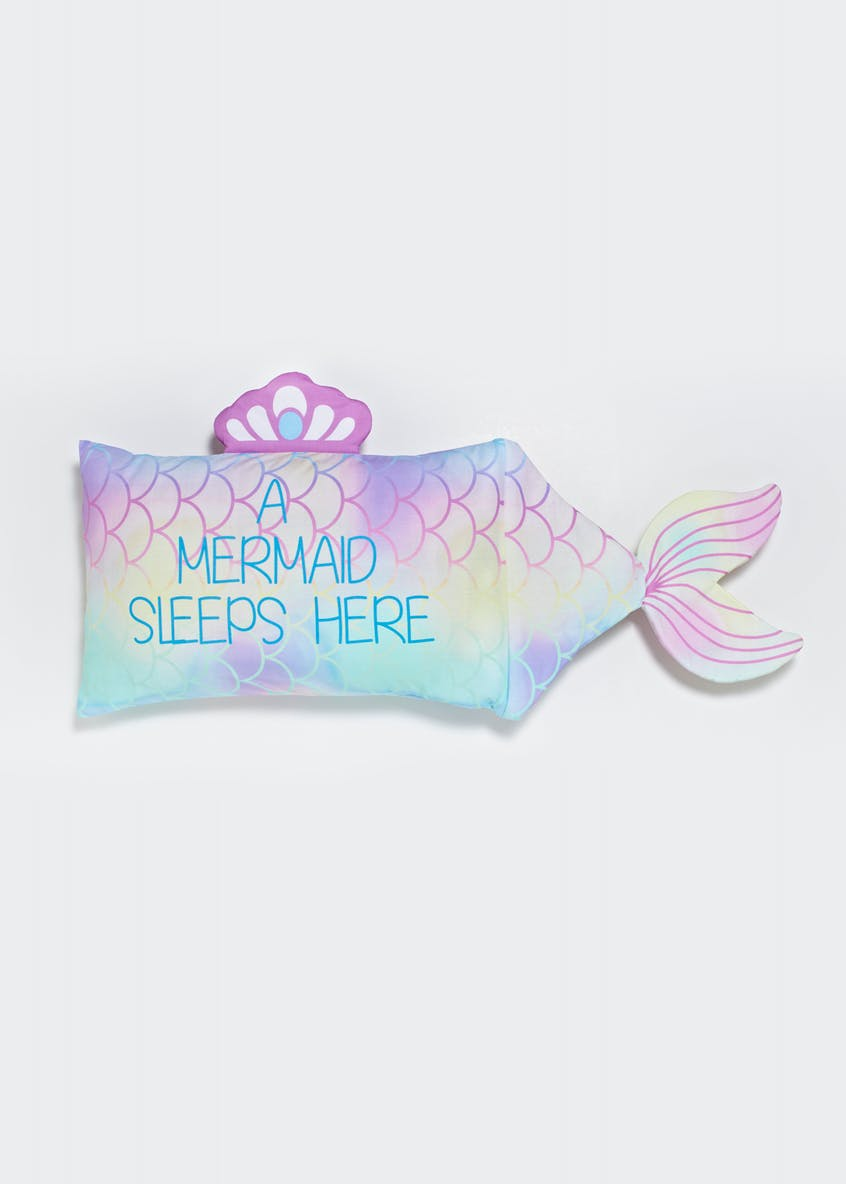 Kids Mermaid Shape Pillowcase