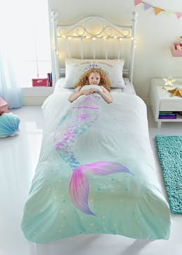 Kids 100% Cotton Mermaid Duvet Cover (Single)