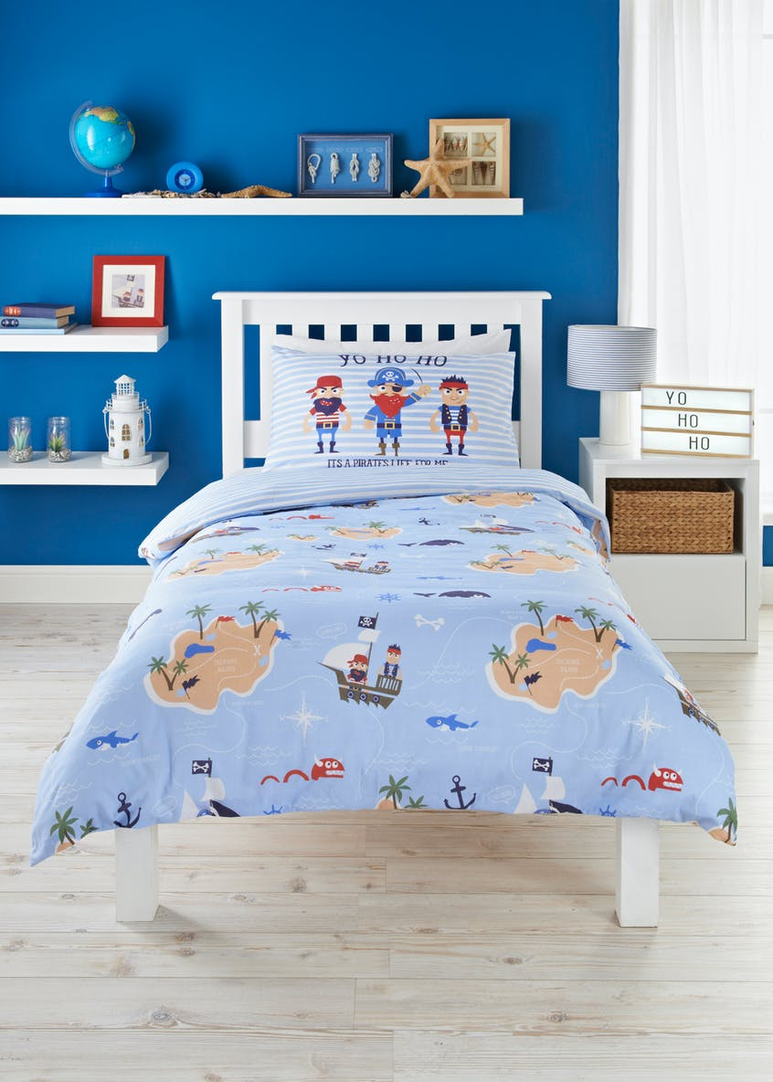 Kids 100% Cotton Pirate Pete Duvet Cover (Double)