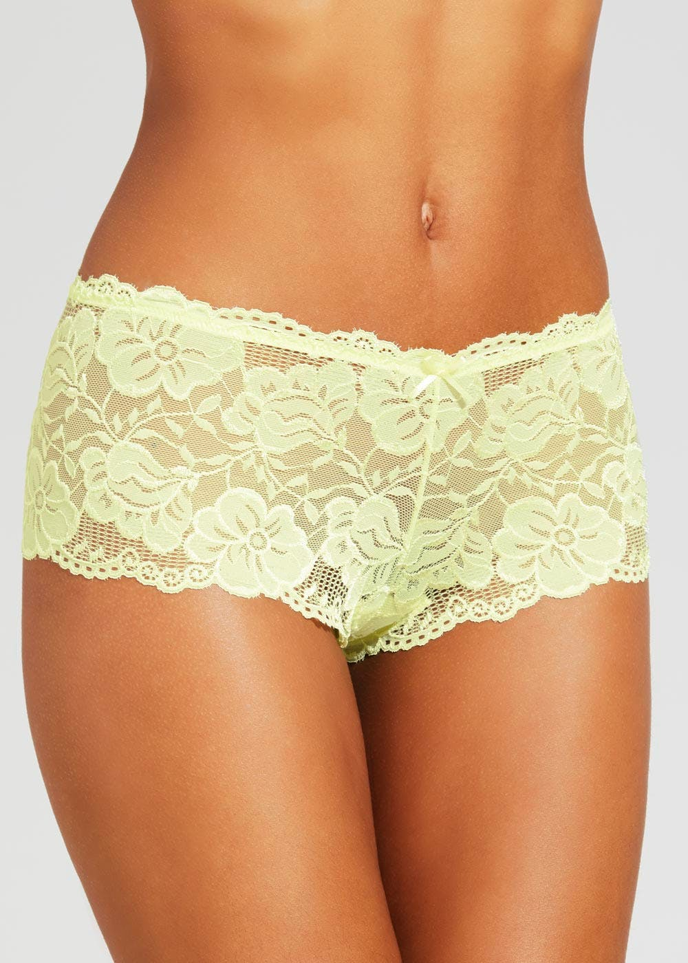 27bc9171cc4f3 3 Pack Lace French Knickers – Yellow – Matalan